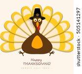 happy thanksgiving turkey  | Shutterstock .eps vector #505141297