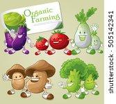 vegetable character set.... | Shutterstock .eps vector #505142341