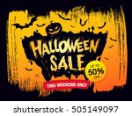 halloween sale. vector... | Shutterstock .eps vector #505149097