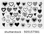 collection of doodle sketch... | Shutterstock .eps vector #505157581