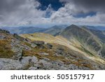 mountain ridge with grass and... | Shutterstock . vector #505157917