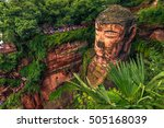 the great buddha of leshan ... | Shutterstock . vector #505168039