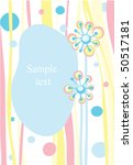 photo frame with floral... | Shutterstock . vector #50517181