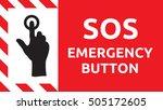 sos emergency button | Shutterstock .eps vector #505172605