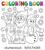 coloring book christmas... | Shutterstock .eps vector #505174285