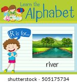 flashcard letter r is for river ... | Shutterstock .eps vector #505175734