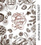 vector illustration sketch card ... | Shutterstock .eps vector #505176007