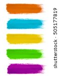 colored paint strokes on white | Shutterstock . vector #505177819