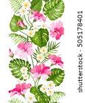 floral linear tile design....   Shutterstock .eps vector #505178401
