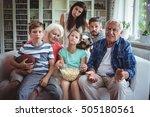 unhappy multi generation family ... | Shutterstock . vector #505180561