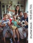 happy multi generation family... | Shutterstock . vector #505181701