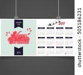 2017 christmas calendar... | Shutterstock .eps vector #505186231