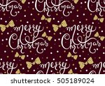 vector seamless pattern with... | Shutterstock .eps vector #505189024
