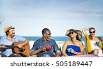 group of people together concept | Shutterstock . vector #505189447