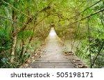 Old Wooden Suspension Bridge...