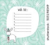christmas wish list template.  | Shutterstock .eps vector #505198549
