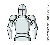 plate armor icon in cartoon...   Shutterstock .eps vector #505199119