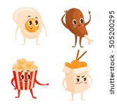 collection of four colorful... | Shutterstock .eps vector #505200295