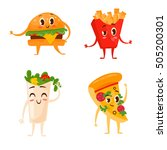 collection of four colorful... | Shutterstock .eps vector #505200301