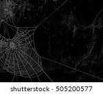 spider web silhouette against... | Shutterstock .eps vector #505200577