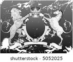 grunge lion and unicorn shield... | Shutterstock .eps vector #5052025