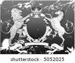 grunge lion and unicorn shield... | Shutterstock .eps vector #5052025