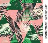 trendy seamless exotic pattern... | Shutterstock .eps vector #505204339
