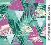 trendy seamless exotic pattern... | Shutterstock .eps vector #505204351