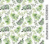 summer seamless pattern with... | Shutterstock . vector #505208041