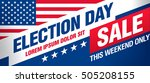 election day sale. vector banner | Shutterstock .eps vector #505208155