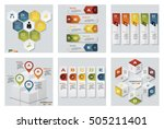 collection of 6 design colorful ... | Shutterstock .eps vector #505211401