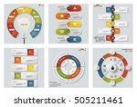 collection of 6 design colorful ... | Shutterstock .eps vector #505211461