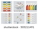 collection of 6 design colorful ... | Shutterstock .eps vector #505211491