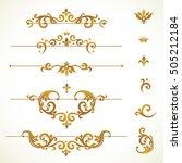 vector set vignettes  frames ... | Shutterstock .eps vector #505212184