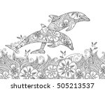 Coloring Page With Pair Of...