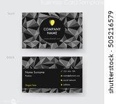 business card template   Shutterstock .eps vector #505216579