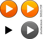 play round buttons. black icon... | Shutterstock .eps vector #50521759