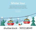 mountain tours conceptual web... | Shutterstock .eps vector #505218049
