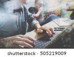 co worker process  entrepreneur ...   Shutterstock . vector #505219009