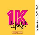 1k likes online social media... | Shutterstock .eps vector #505222861