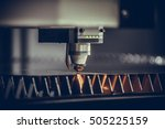 laser cutting of flat sheet... | Shutterstock . vector #505225159
