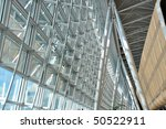 Interior of a modern airport - stock photo
