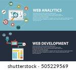 flat design modern vector... | Shutterstock .eps vector #505229569