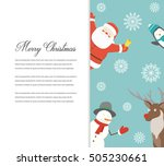 funny merry christmas card.... | Shutterstock .eps vector #505230661