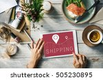 shipping logistic delivery... | Shutterstock . vector #505230895