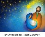 christmas religious nativity... | Shutterstock . vector #505230994
