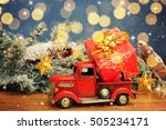 christmas background. pickup... | Shutterstock . vector #505234171