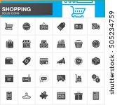 online shopping vector icons... | Shutterstock .eps vector #505234759