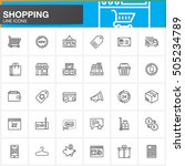 online shopping line icons set  ... | Shutterstock .eps vector #505234789