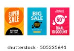 sale flyers set with discount... | Shutterstock .eps vector #505235641